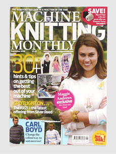 Redesign of Machine Knitting Monthly magazine by Nick McKay. Cover